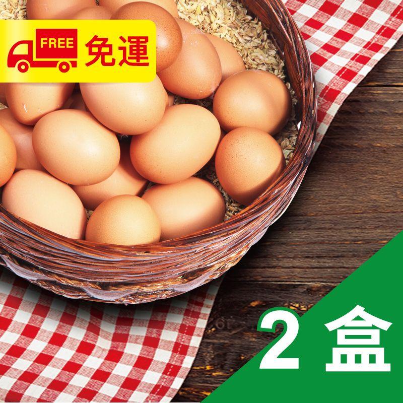 【安心土雞蛋】土雞蛋2斤4-7兩/盒X2(素可)(僅送台中地區)
